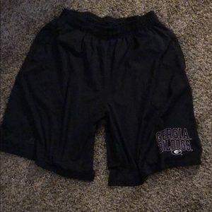 Men's university of Georgia athletic shorts